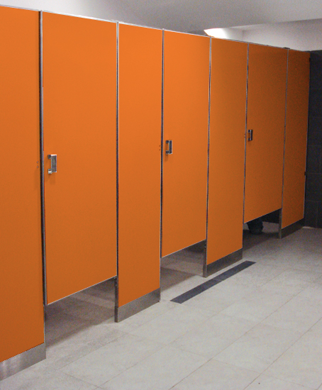 Baño De Color Rojo Fuego Deliplus:mamparas para sanitarios públicos Durmodul,mamparas para baños